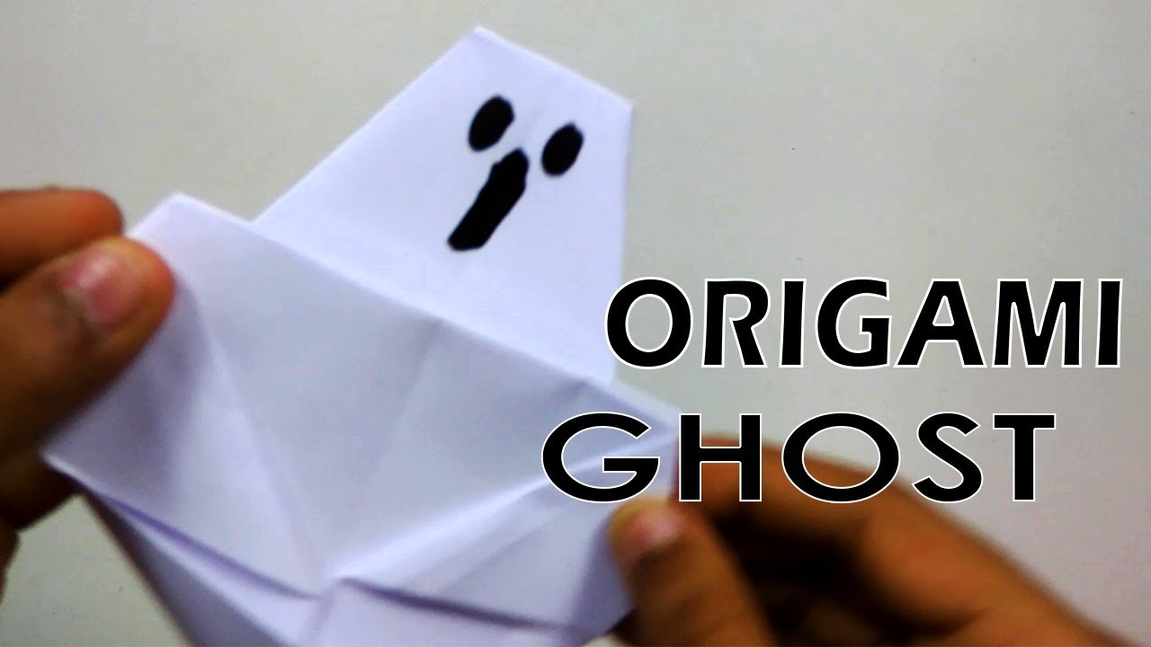 Easy origami ghost tutorial learn to fold halloween paper crafts easy origami ghost tutorial learn to fold halloween paper crafts for kids diy paper crafts jeuxipadfo Choice Image