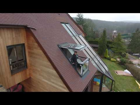 ENTREPRISE BRISACIER   Création D'une Verrière Balcon VELUX  CABRIO GDL 2066 + LSB