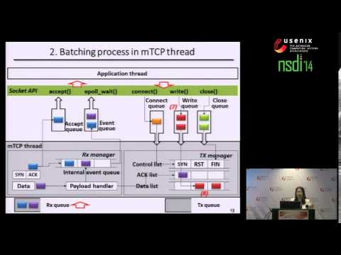 mTCP: a Highly Scalable User-level TCP Stack for Multicore Systems
