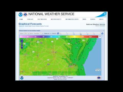 National Weather Service Digital Forecast Viewer