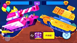 Tank Stars Update - PINKY Tank vs BLAZER Tank   Full Upgrade   Game For Kids FHD