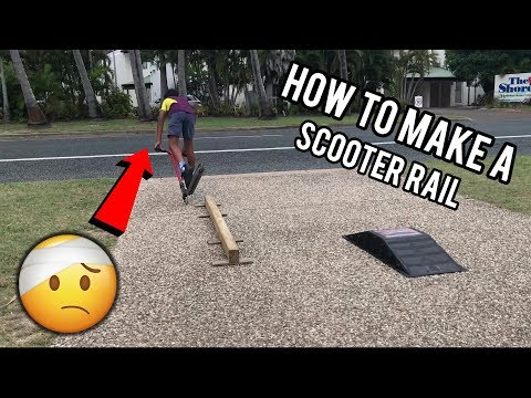 How to make a wood scooter rail