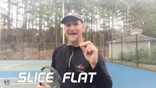 Serve Lessons: How to Hit Slice, Kick and Flat
