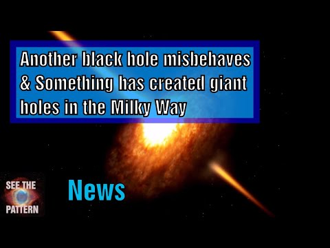 Another Black Hole misbehaving & Something has shot holes through the Milky Way