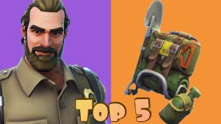 Top 5 Backbling - Chief Hopper Skin Combos In Fortnite!