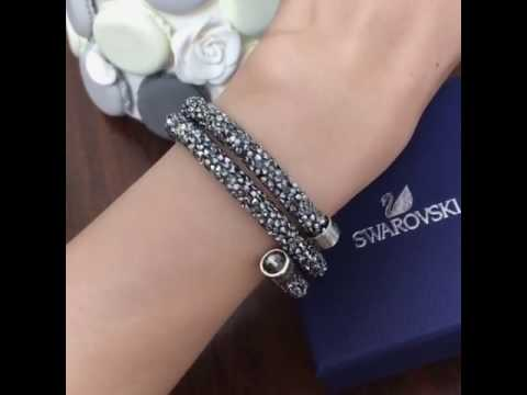 Swarovski Crystaldust Double Bangle xA69Glf