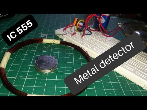 How to make simple metal detector using 555