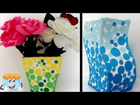 Как сделать вазу из картона своими руками 4 класс