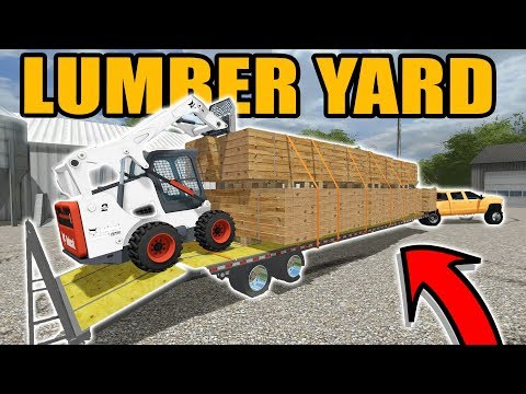 FARMING SIMULATOR 2017   TRUCKING A HUGE LOAD OF BOARDS FROM THE MILL   WISCONSIN LOGGING EP #6