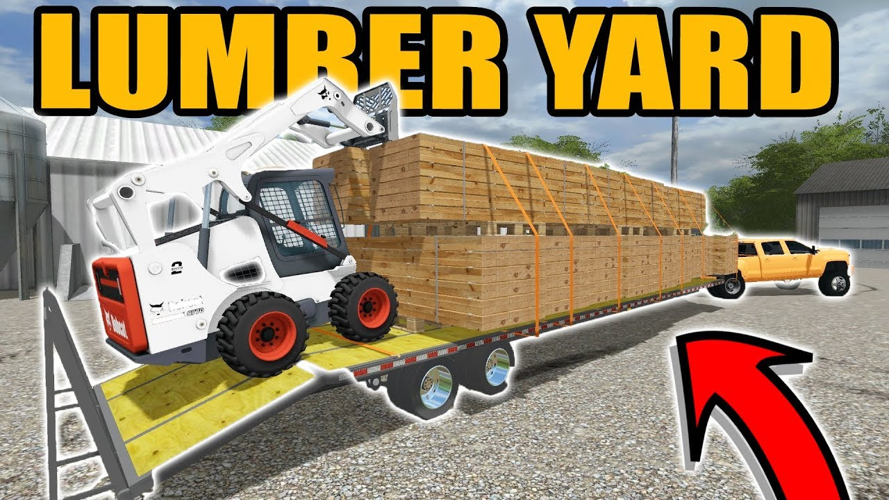 farming-simulator-2017-trucking-a-huge-load-of-boards-from-the-mill-wisconsin-logging-ep-6