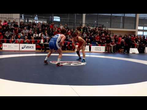 2015 Senior National Championships: 86 kg Kevin Barret vs. Andrew Johnson