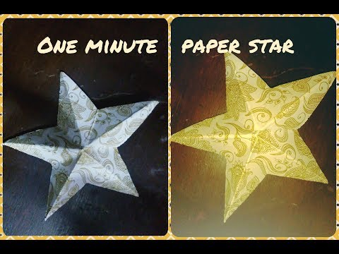 Diy paper star / decor with star