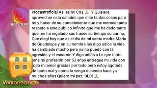 ¡NOOOO! Verónica Castro anuncia su retiro y dice adiós a lo que tanto ha amado. | Ventaneando