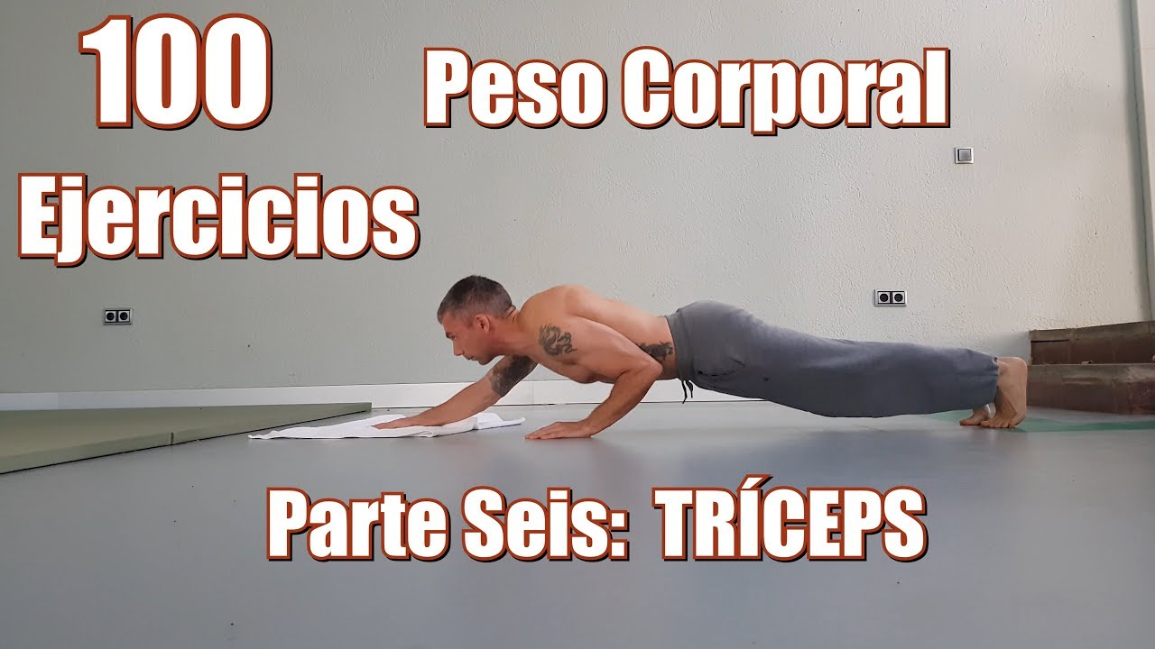 triceps ejercicios sin pesas