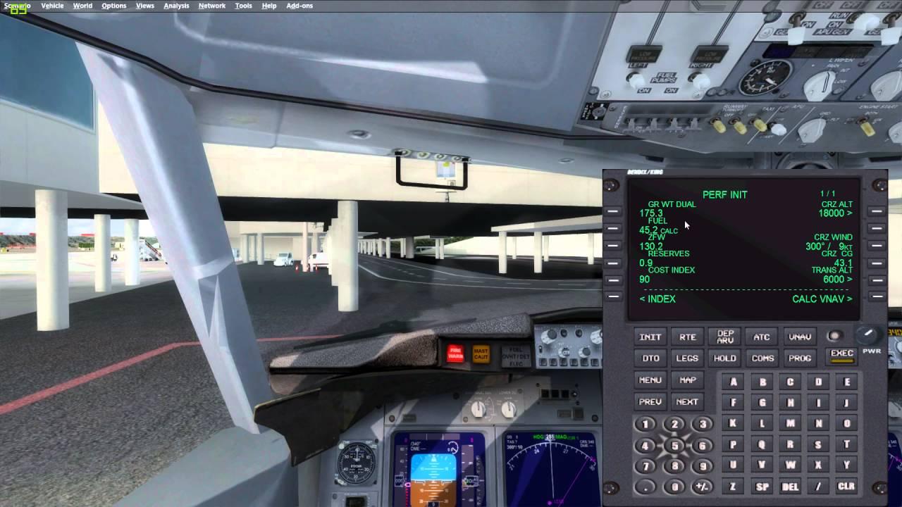 P3D/FSX Tutorial: Program the FMC of Honeywell - English