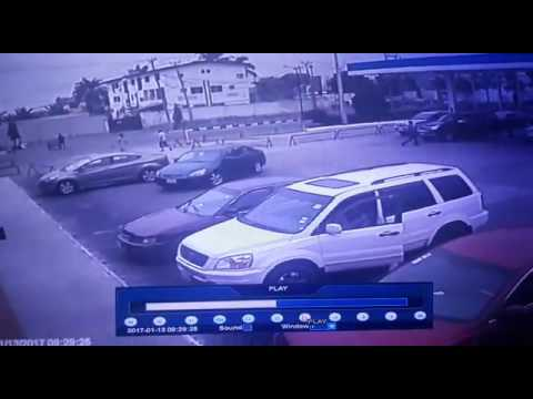 Robbery incident captured on cctv in Lagos