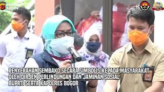 Pemkab Bogor Membagikan Sembako Dari Presiden RI Untuk Warga Terdampak Covid-19 [Video Polres Bogor]
