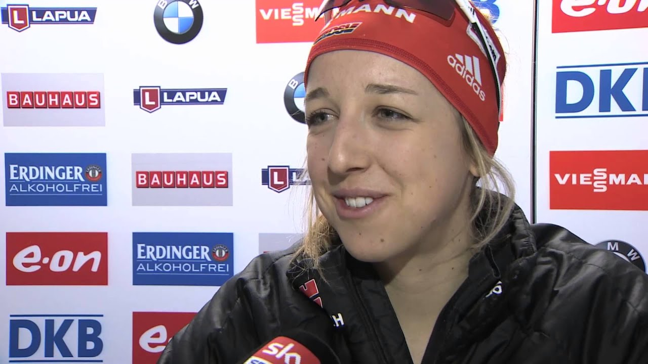 Biathlon: Interview mit Franziska Preuß (15.03.2015) - YouTube