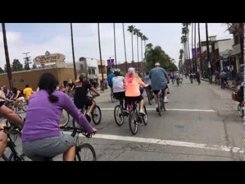 32. Riding in the CicLAvia. San Fernando Valley, Los Angeles, CA. March 2015