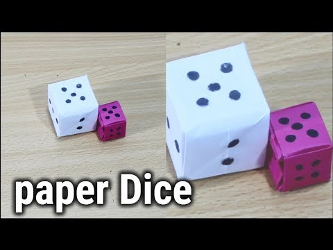 How to Make a Ludo Dice with Paper | Diy Craft Tutorial | Ludo Dice With Paper (Step by Step)