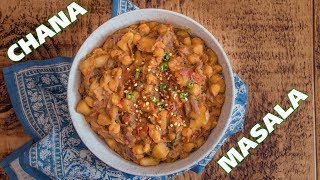 Chana masala recipe! chickpeas and potato curry by Food with Chetna