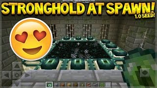 STRONGHOLD AT SPAWN! Minecraft PE - 0.17.0 Stronghold + 2 Villages At Spawn (Pocket Edition)