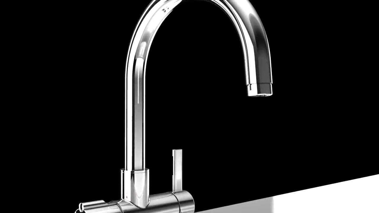 Grohe Red Duo Hot Water Tap - Kitchen Sink Mixer - YouTube