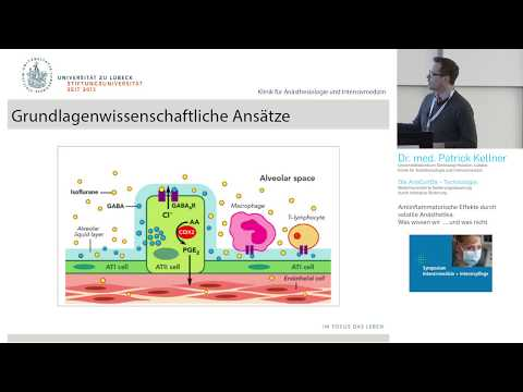 Antiinflammatorische Effekte durch volatile Anästhetika –  (engl. subt.)  Dr. Patrick Kellner