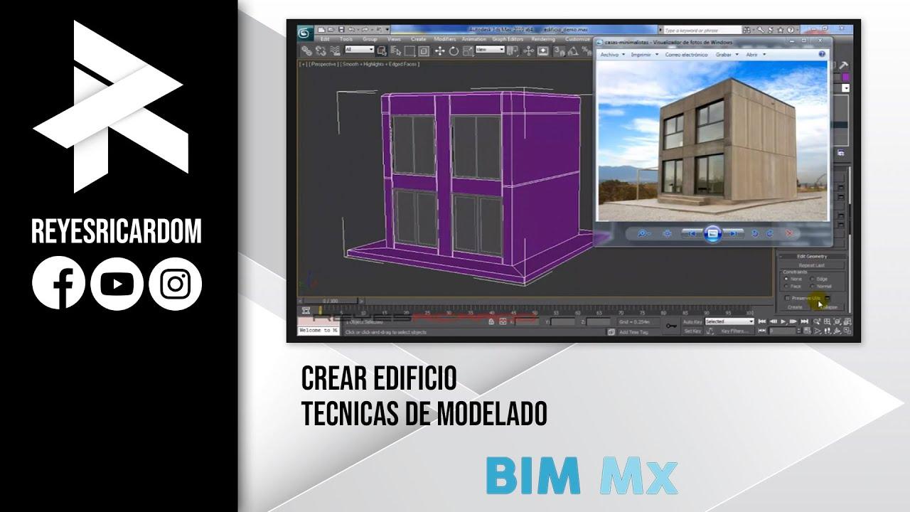 crear edificio tecnicas de modelado 3d youtube