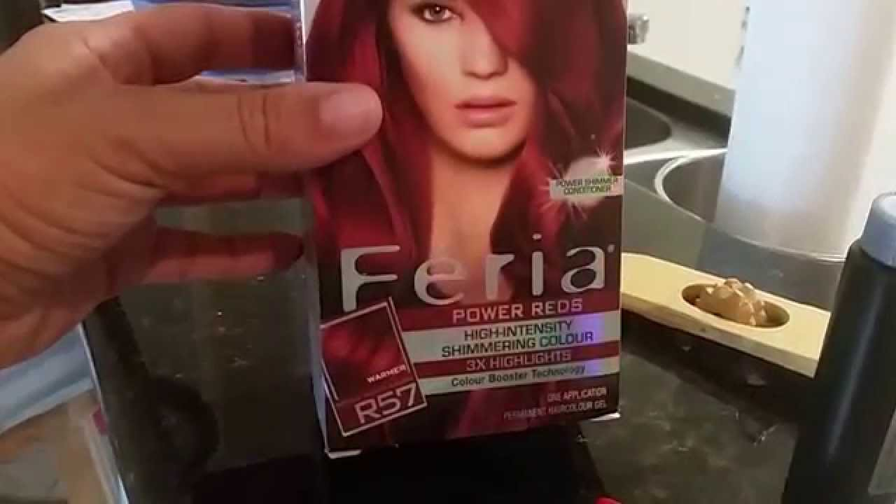 Loral Feria Cherry Crush Medium Auburn Hair Dye Review Youtube