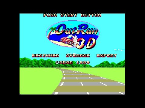 (Real 3D) Out Run 3-D - Master System Longplay (FM) (Sega Scope 3D)