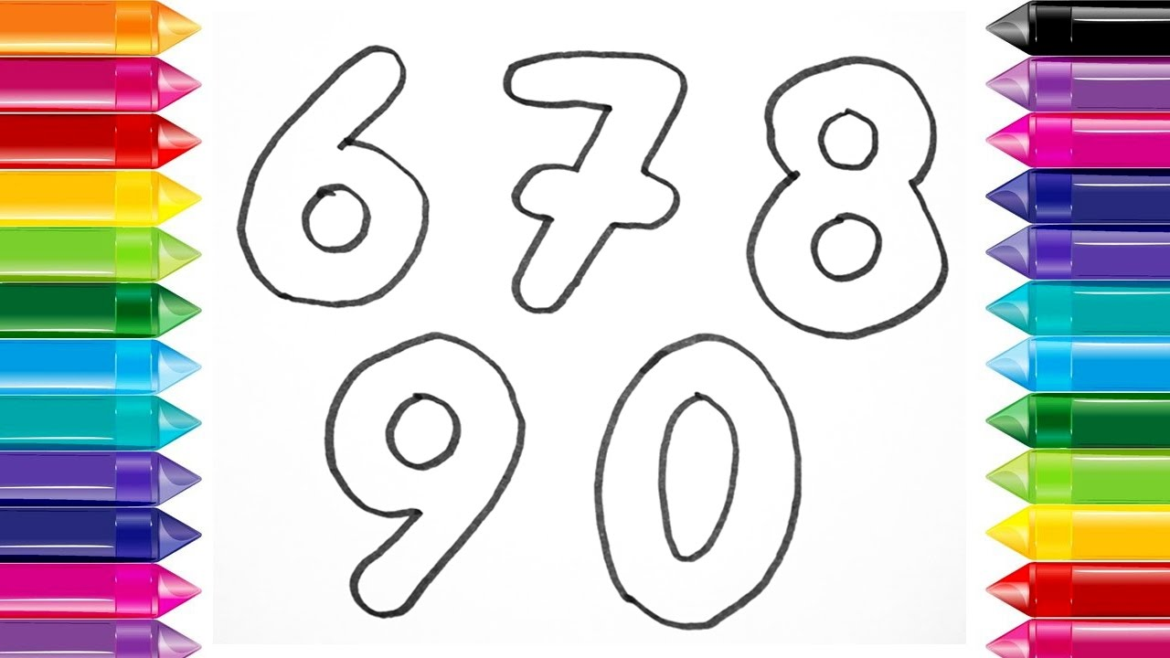 How to Draw Numbers Draw color Numbers from 1 to 9 ...
