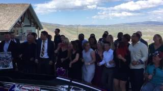 Olympians honor Steve Holcomb with the 'Holcy dance' at service