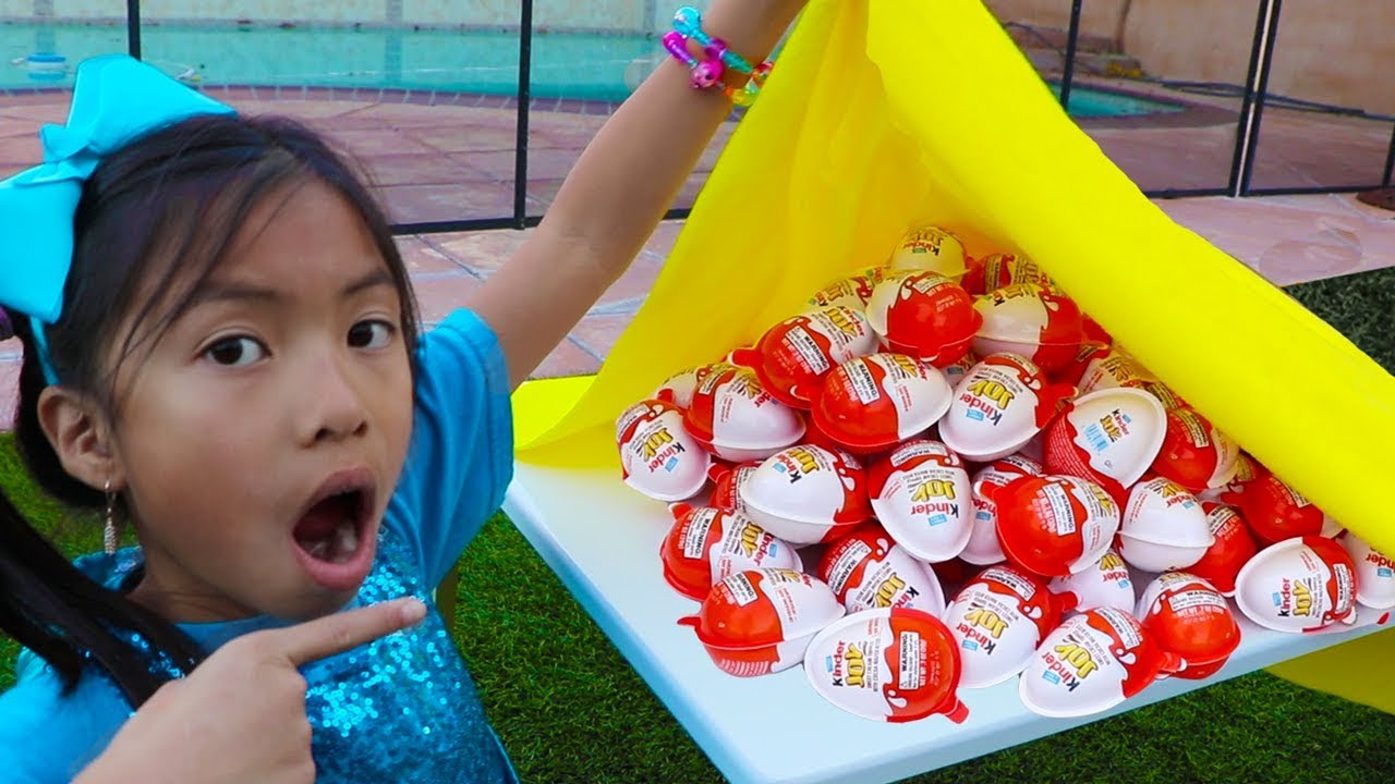 Download Wendy & Liam Pretend Play Learn to Share w/ Kinder Surprise Egg Toys