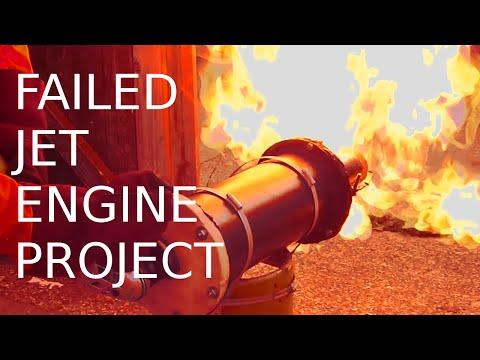 Homemade Turbojet Engine Failure and Review