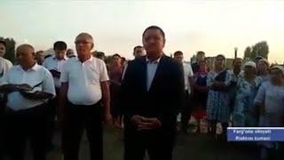 FARG'ONA VILOYATI HOKIMI./ РИШТОН ХАЛҚИДАН УЗР СЎРАДИ. Ш. ҒАНИЕВ