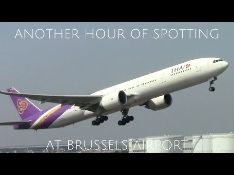 Another HOUR of Planespotting at Brussels Airport