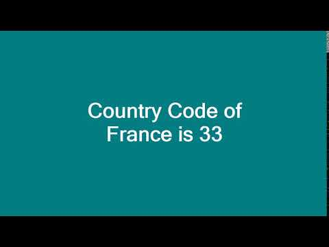 Country Code of France is 33
