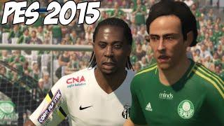 PES 2015: Atualização 1.02, PALMEIRAS vs SANTOS no MINEIRÃO + Campeonatos de PES 2015 Online