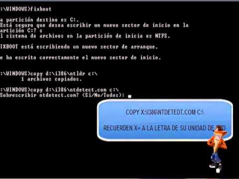 Como Reparar Error Falta NTLDR En Windows XP No Inicia