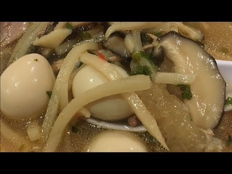 C/w Nana: Lao Style Fish Maw Soup (ແກງກະເພາະປາ == Kang Kaphaw Pa)