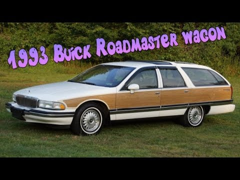 1993 buick roadmaster woody estate station wagon with leather 3rd row seat youtube. Black Bedroom Furniture Sets. Home Design Ideas