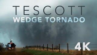 Monster Tornado (4K VIDEO) - 5/1/18 - Tescott, KS