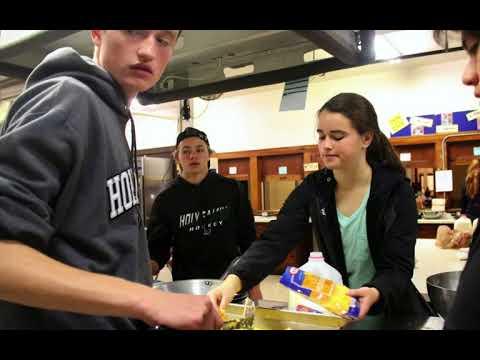 Holy Family Catholic High School Students Serve the Homeless
