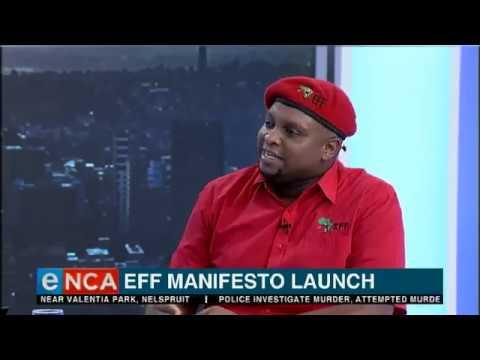 Floyd Shivambu on EFF's manifesto launch