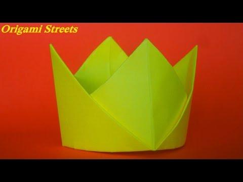 Как сделать корону из бумаги. Оригами корона из бумаги