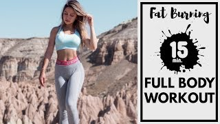 Full Body Workout | 15 mins Fat Burning At Home Workout | Cappadocia
