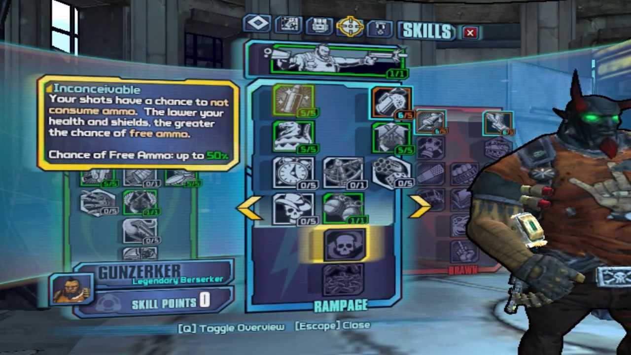 Borderlands 2 Gunzerker Pistol Build ( Level 50 )