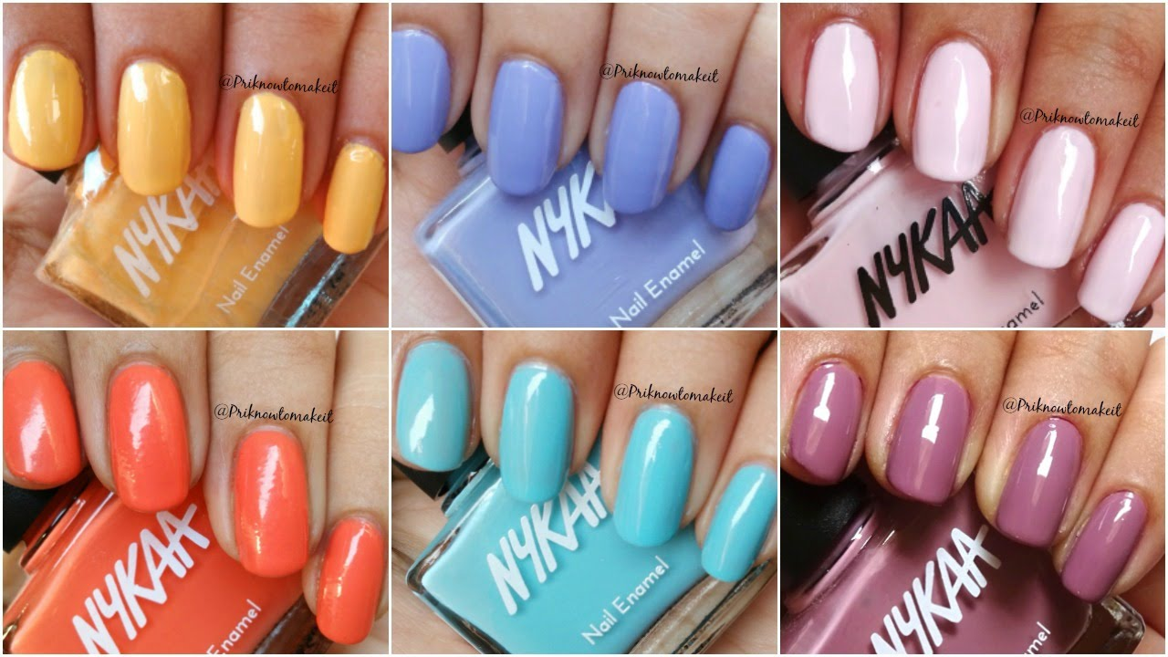 Nykaa - Pastel nail enamel | spring collection | swatch, review and ...
