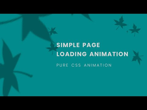 CSS Page Loading Animation Tutorial   Learn CSS Animation